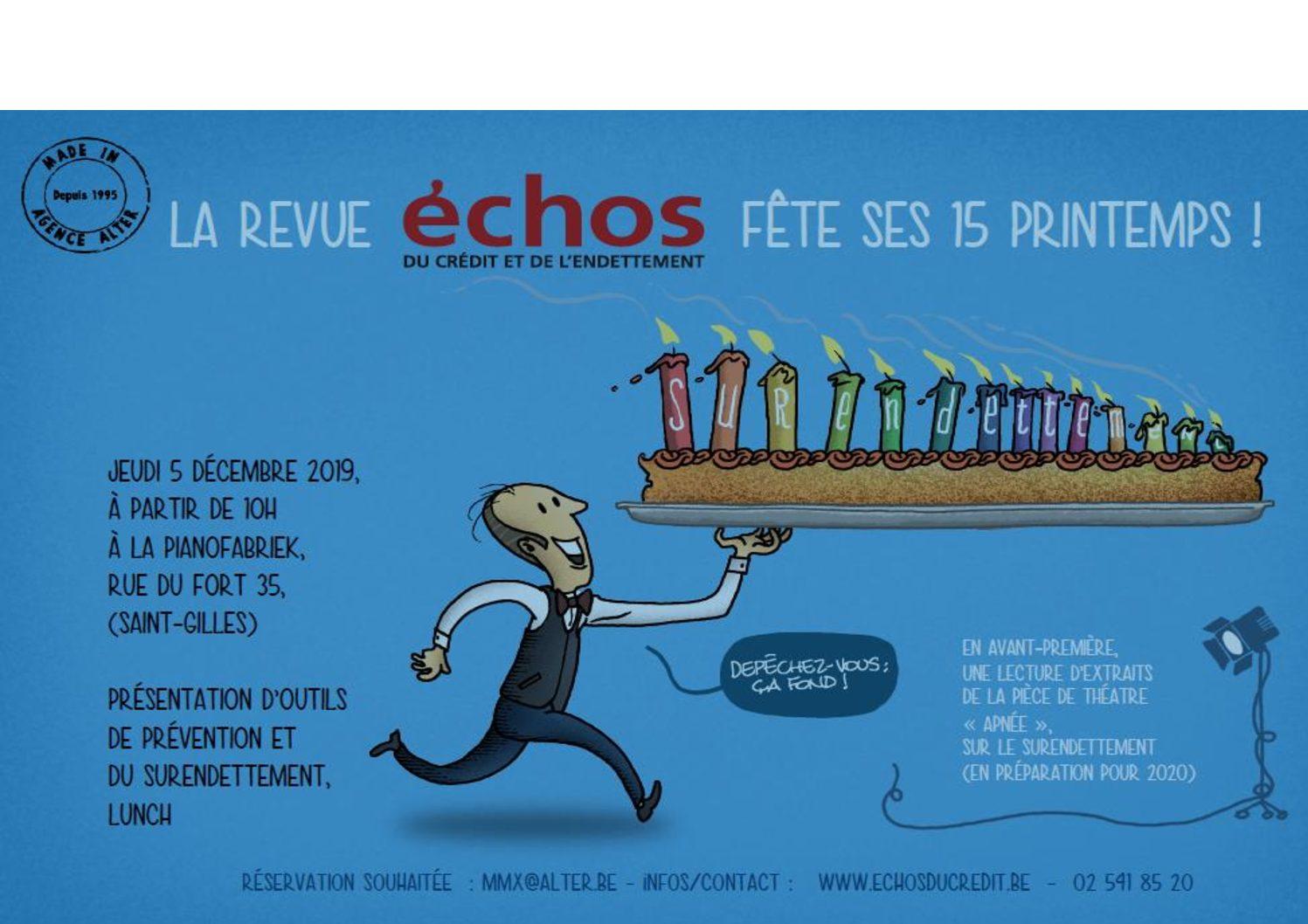 """Les 15 ans des """"Echos du Crédit et de l'Endettement"""""""